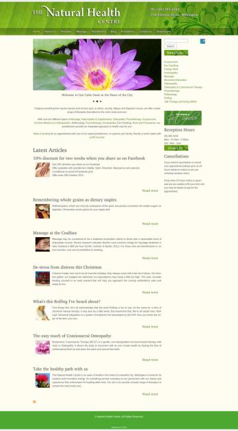 The Natural Health Centre home page