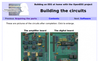 OpenEEG build instructions home page