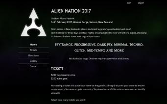 Alien Nation 2017 home page