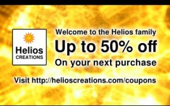 Helios Creations discount coupon design