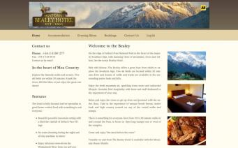 Bealey Hotel home page