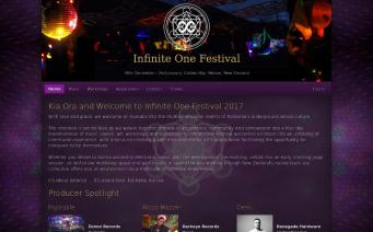 Infinite One Festival website screenshot