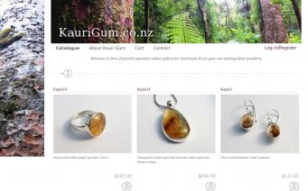 Kaurigum.co.nz website screenshot