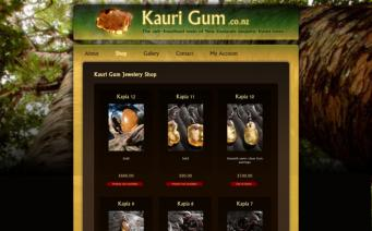 Kaurigum online shop page