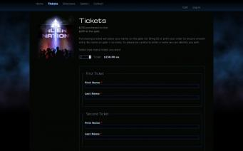 Aliennation 2016 ticketing page