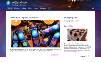 Wild Heart Chocolate home page